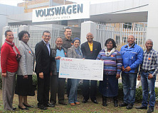 Local charities benefit from Volkswagen's Community Trust cheque handover