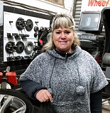 Jessie Mayo has been involved in her family's independent motor workshop for the past 29 years.