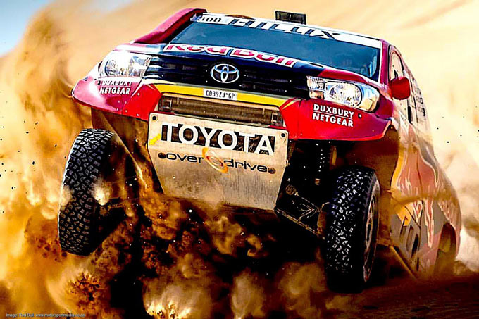 Advantage Toyota - SA-built bakkies on top at Dakar