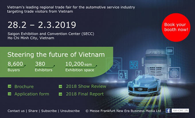 Automechanika Ho Chi Minh City 2019 – now is your chance to