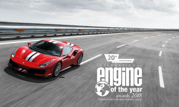 Ferrari's turbo-charged V8 is voted the best engine of the last 20 years