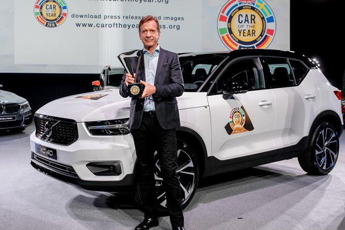 New Volvo XC40 is named 2018 European Car of the Year