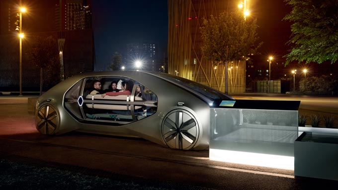 Renault EZ-GO: Robo-vehicle concept for shared urban mobility makes world premier