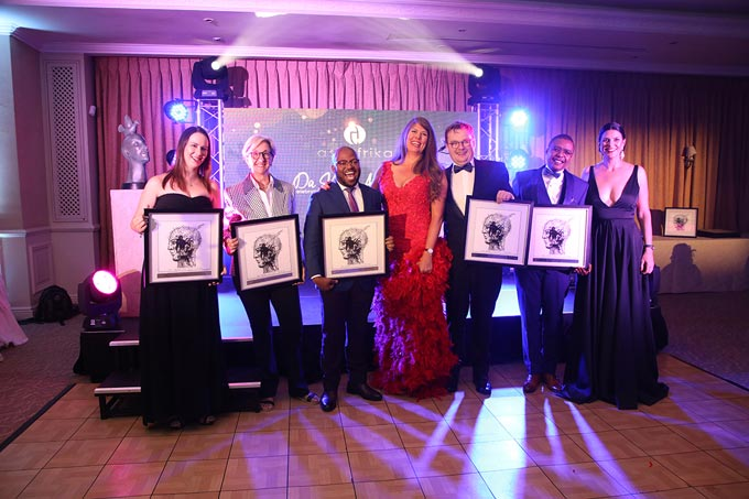 Da Vinci judges with Ask Afrika team- Ilsa Prentis, Sandra Gordon, Khaya Dlanga, Andrea Gevers, Johan Prins, Langa Khanyile and Sarina de Beer