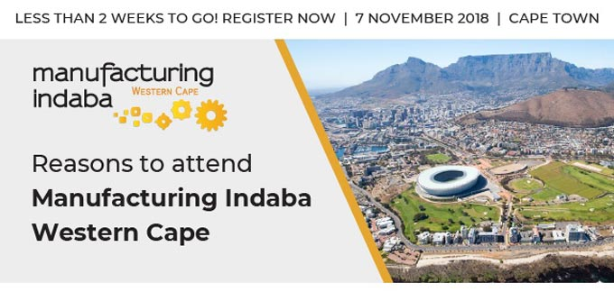 Less than 2 Weeks to Go! Reasons to attend Manufacturing Indaba Western Cape