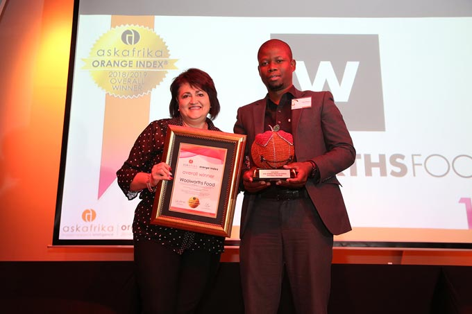 Overall winner of the 2018 ASK AFRIKA ORANGE INDEX: Woolworths Food