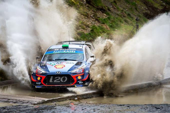 Hyundai misses podium finish in Wales Rally