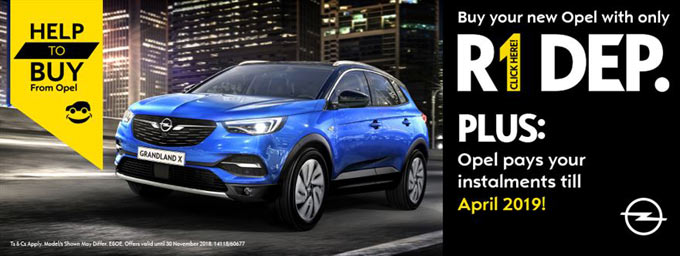 ONLY R1 Deposit required if you buy a new OPEL