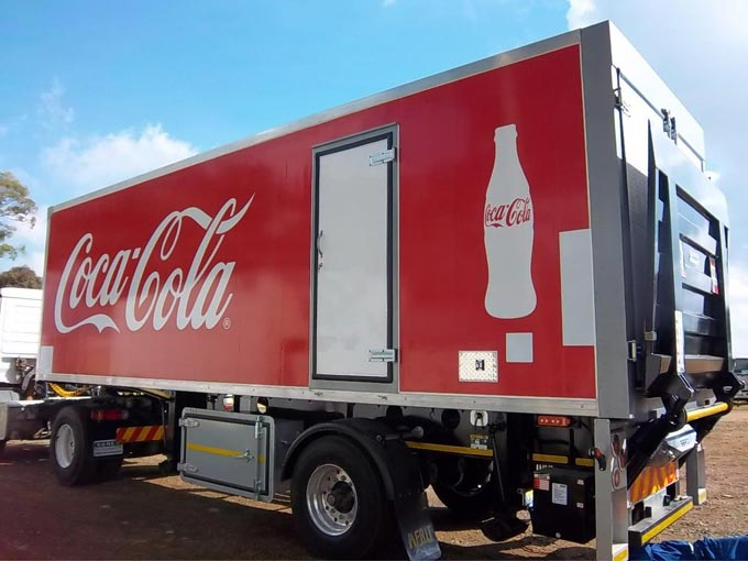 One of the vehicles built by Serco for Coca Cola.