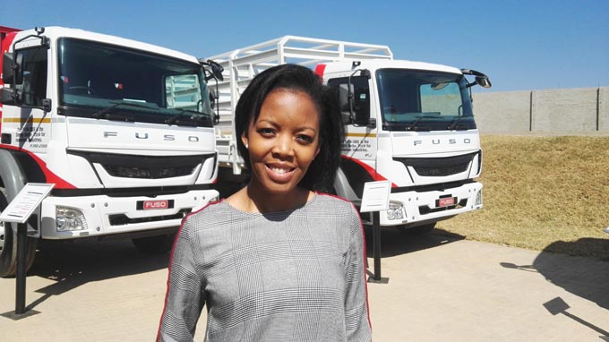 Mpho Matseba, product and marketing manager at Fuso Southern Africa