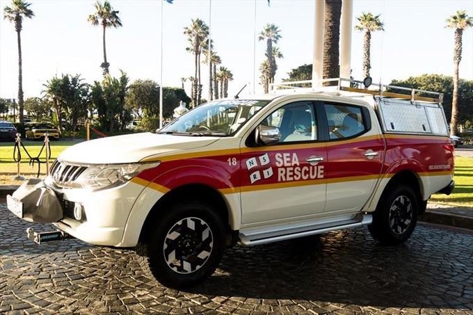 Mitsubishi keeps you safe on the road - and in the water