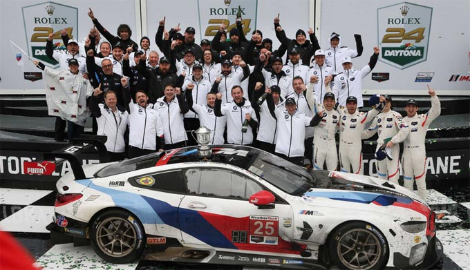 BMW wins the 24 Hours of Daytona and dedicates victory to Charly Lamm – Alex Zanardi makes inspirational appearance in the BMW M8 GTE