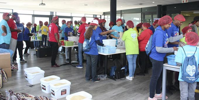 VWSA employees join hands for hunger relief
