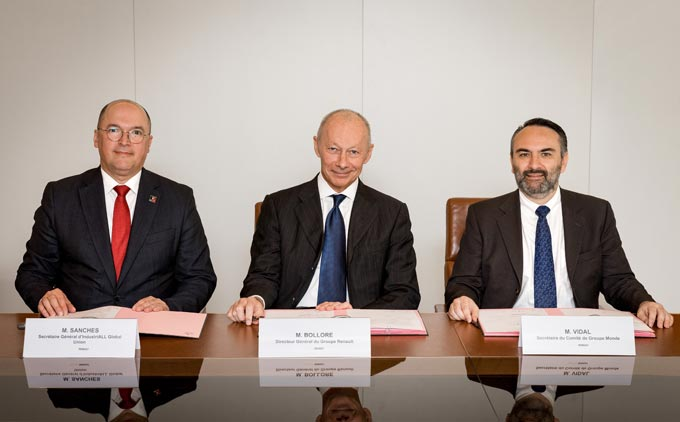Groupe Renault, its group works council and industriall global union sign a global agreement on quality of work life