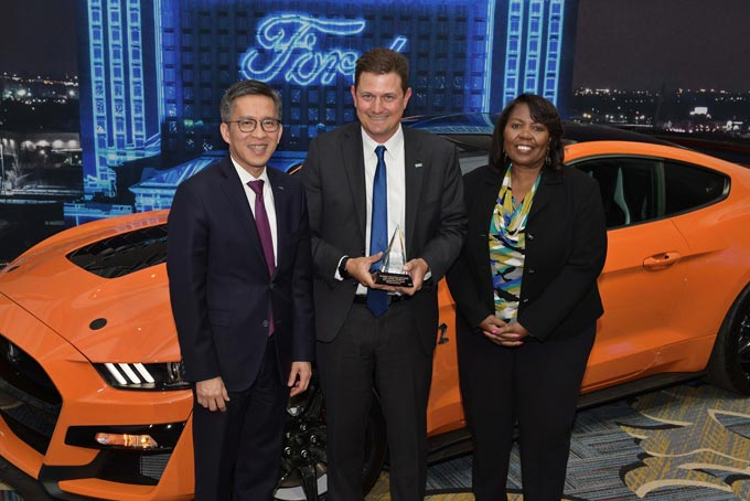 Hau Thai-Tang, Ford chief product development and purchasing officer Kurk Wilks, president and general manager OEM at MANN+HUMMEL Linda Cash, Ford vice president, quality and new model programs