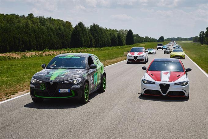 Alfa Romeo welcomes the Gumball 3000 to Balocco