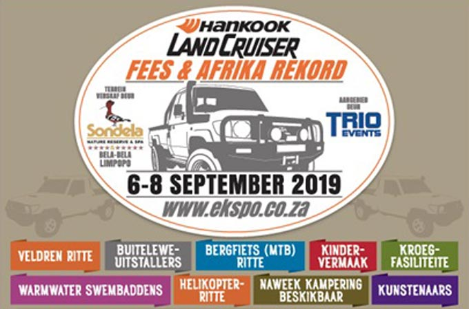 Hankook Land Cruiser Fees & Afrika rekord : Sondela Nature Reserve & Spa : 6-8 AUG 2019