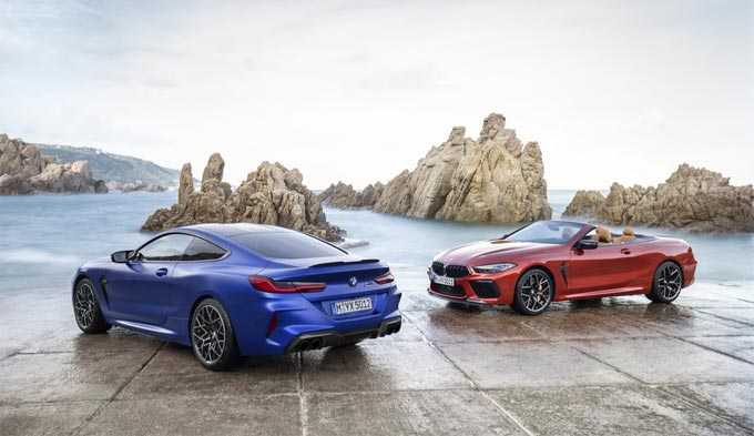 The new BMW M8 Coupe and BMW M8 Competition Coupe. The new BMW M8 Convertible and BMW M8 Competition Convertible.