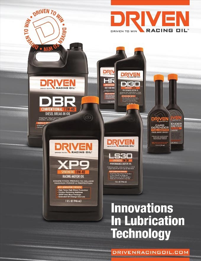 2019 DRIVEN Racing Oil catalog is now available