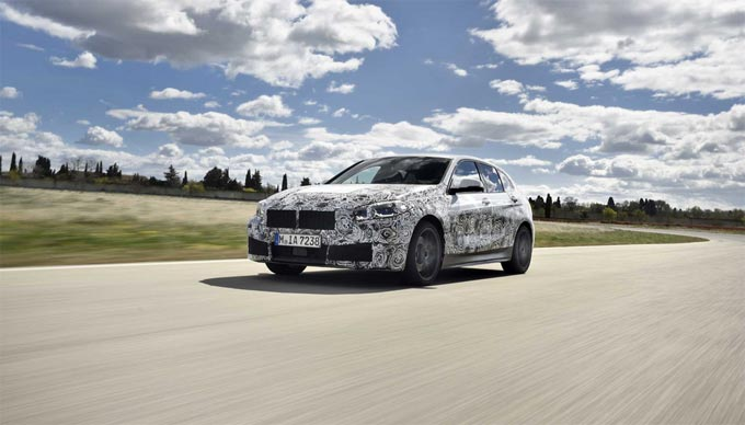 The new BMW 1 Series: final test phase in Miramas