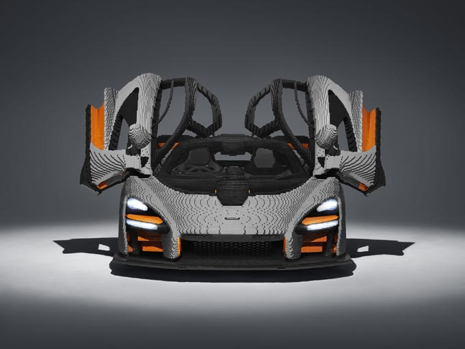 Nearly half a million bricks later, the first full-scale LEGO® McLaren Senna