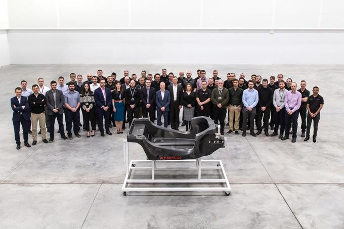 First prototype carbon fibre chassis delivered from new £50m McLaren Automotive innovation and manufacturing centre