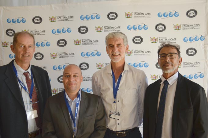 AIDC EC CEO Hoosain Mahomed (far right) with from left Dr Karl van der Merwe - Head of NMU Kaizen Department, S4 Integration Business Manager Ettienne Gerwel and Dr Anton Grutter, Director of Lean Institute Africa, who adjudicated the national Kaizen awards in Port Elizabeth