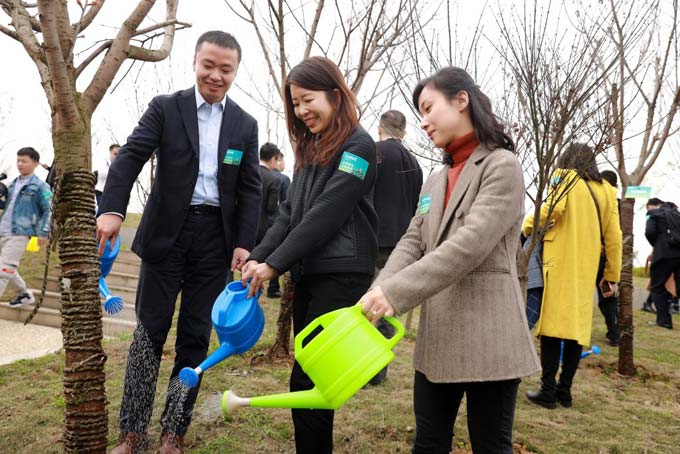 The CAPAS Arbour Day held successfully to support the green initiative of Southwest China