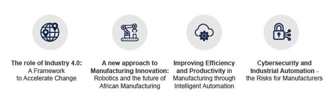 Key topics to be discussed in the Manufacturing Indaba conference relating to Industry 4.0 include: