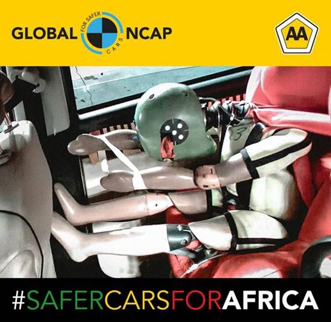 Four star progress but poor child protection a disappointment in latest #SaferCarsforAfrica results
