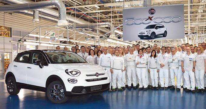 Record-breaking Fiat 500X: the 500 thousandth unit is produced