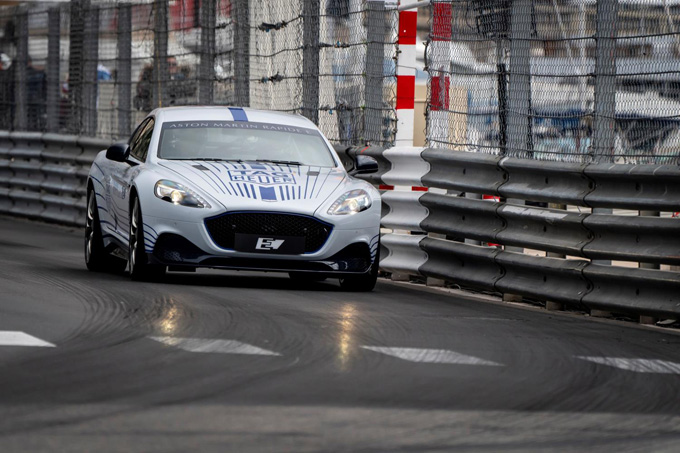 Aston Martin Rapide E delivers dynamic debut on streets of Monaco