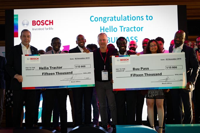 ight:Markus Thill,president Bosch region Africa; AmbimaMunza, and Jehiel Oliver, Hello Tractor; Bernd Heinrichs, Executive Vice President & Chief Digital Officer Mobility Solutions, Bosch;WyclifeOmandi and Sonia Kabra,BuuPass and Yves Nono, vice president, Bosch Mobility Solutions, sales region Africa