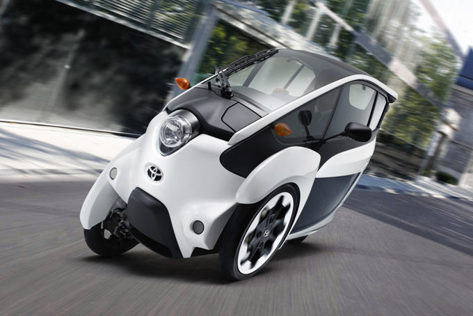 Toyota i-ROAD is a short-distance mobility solution that combines the size of a motorcycle with improved stability to support last-km urban commuting or tourism.