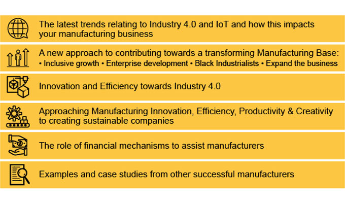 Join us at Western Cape Manufacturing Indaba Conference to learn: