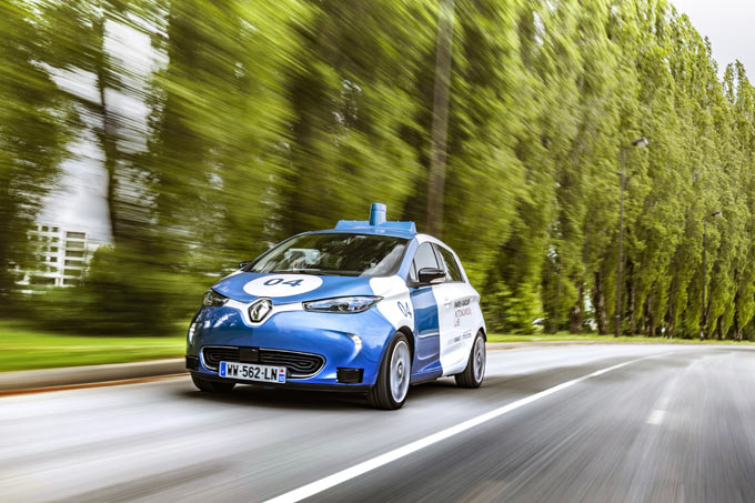 'Paris-Saclay Autonomous Lab': Groupe Renault starts public trial of its on-demand car service using autonomous, electric and shared ZOE Cab