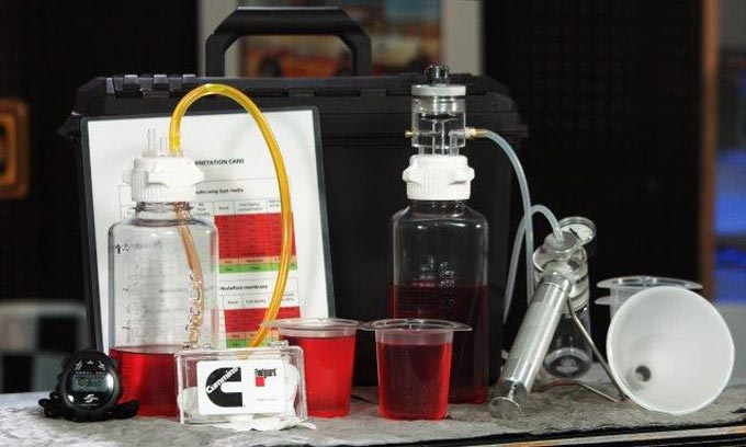 Portable fuel cleanliness analysis kit from Cummins Filtration is a reliable in-the-field solution