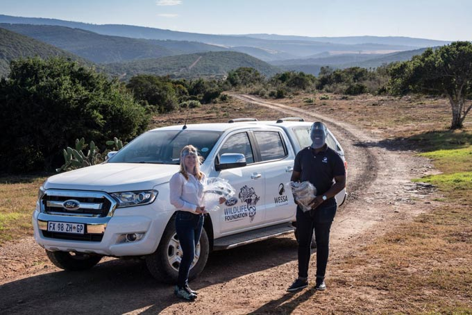 Lynda Du Plessis who works with 25 different Ford Wildlife Foundation (FWF)