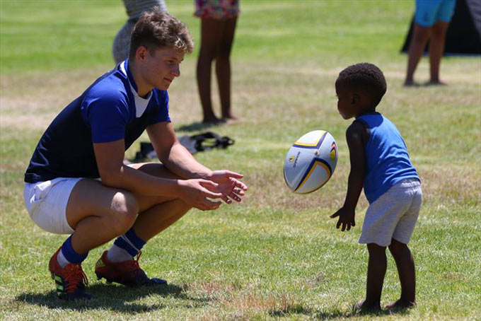 #MitsubishiSArugby develop children's skills and lives