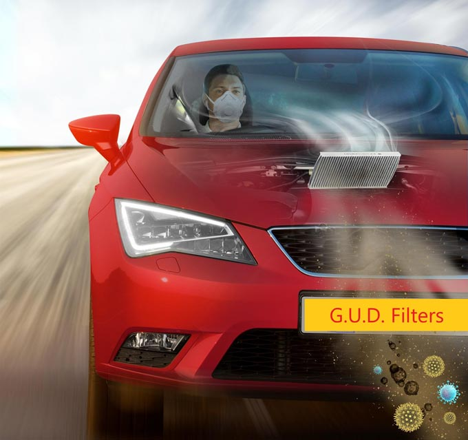 Breathe easier inside your car with G.U.D. cabin air filters