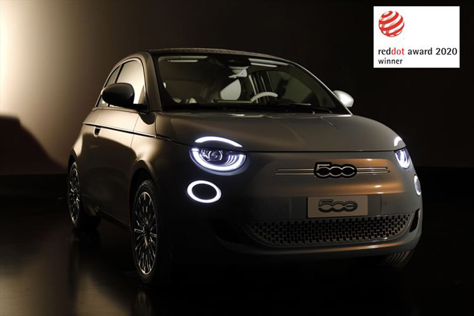 "Fiat New 500 wins the ""Red Dot Award 2020"""