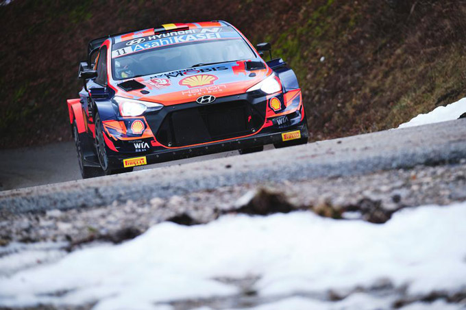 Hyundai scores first 2021 podium result in Rallye Monte-Carlo