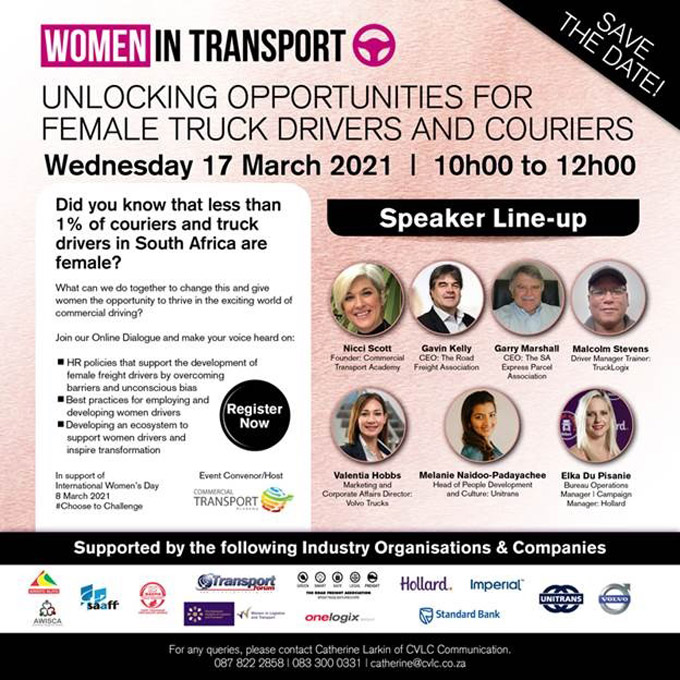 Online Event to Unlock Opportunities for Female Truck Drivers and Couriers