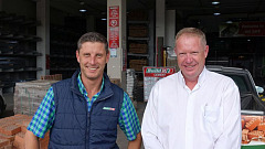 Quintus van Rooyen, general manager at Build It Pinetown and Paul Nothnagel, sales executive at FAW Pinetown.