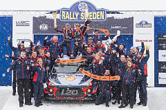 Hyundai takes WRC lead with win in Rally Sweden