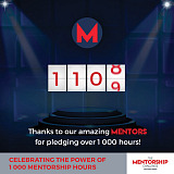 We've come a long way! Celebrating the power of 1000 mentorship hours.