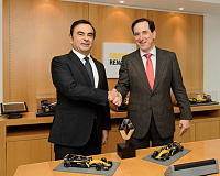 From left to right: Renault Chairman and CEO Carlos Ghosn and the Chairman and CEO of MAPFRE, Antonio Huertas.
