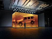 Spectacular installation for the world premiere of the new G-Class
