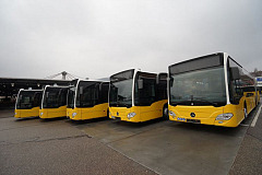 Mercedes-Benz Citaro G hybrid: First Citaro hybrid buses leave the factory