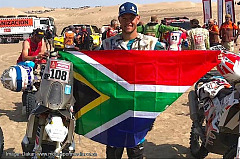 Gilbert rides Husqvarna into Dakar top 20